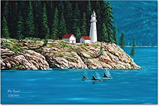 Northwest Passage Lighthouse #1 Giclee Archival Canvas Print Wall Art Décor for Home & Office by Mike Bennett (30