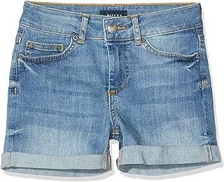 PIECES Pccilma MW Shorts Pantalones Cortos para Mujer