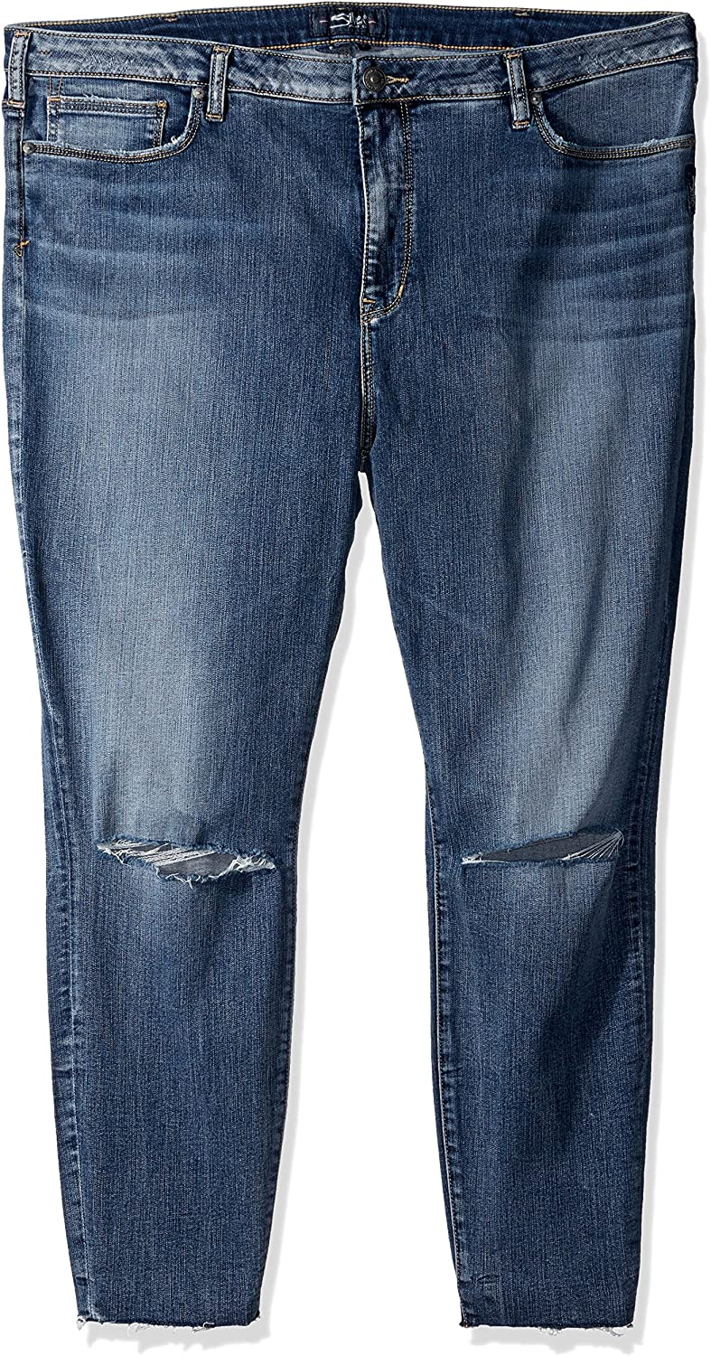 Silver Jeans Co... Womens PlusSize Plus Size Robson HighRise Ankle Jeggings