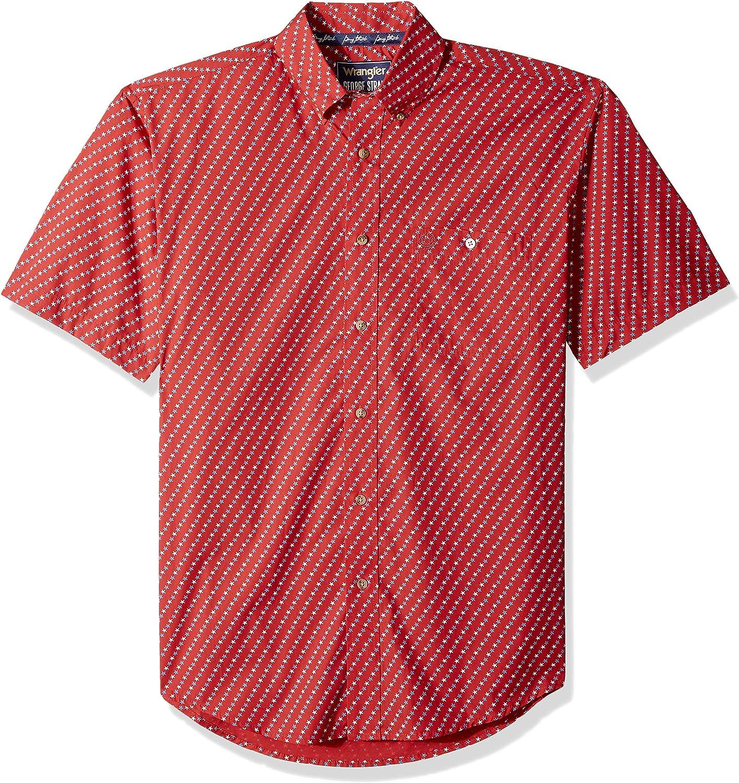Wrangler Men's George Strait One Pocket Short Sleeve Button Shirt