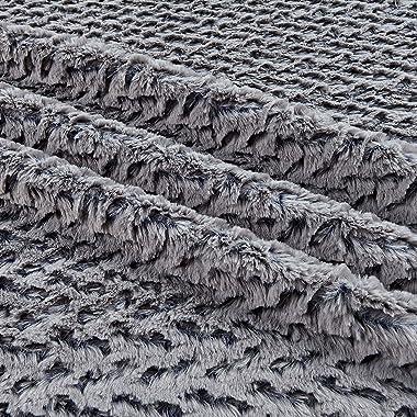 Shannon Fabrics Navy Shannon Minky Luxe Cuddle Ridge Fabric by The Yard