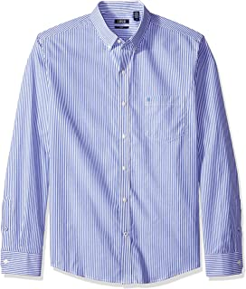 Izod Men's Striped Essential Woven Shirt
