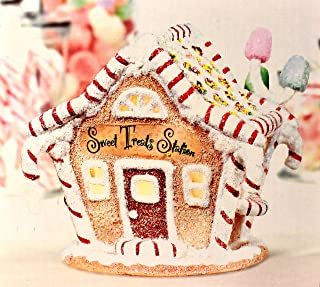 Sweet Treats Express Sugar & Spice Caboose Train Station Christmas Village Vehicle Simple Traditions Gingerbread Houses