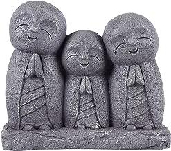 Praying Lucky Japanese Jizo Family Statue
