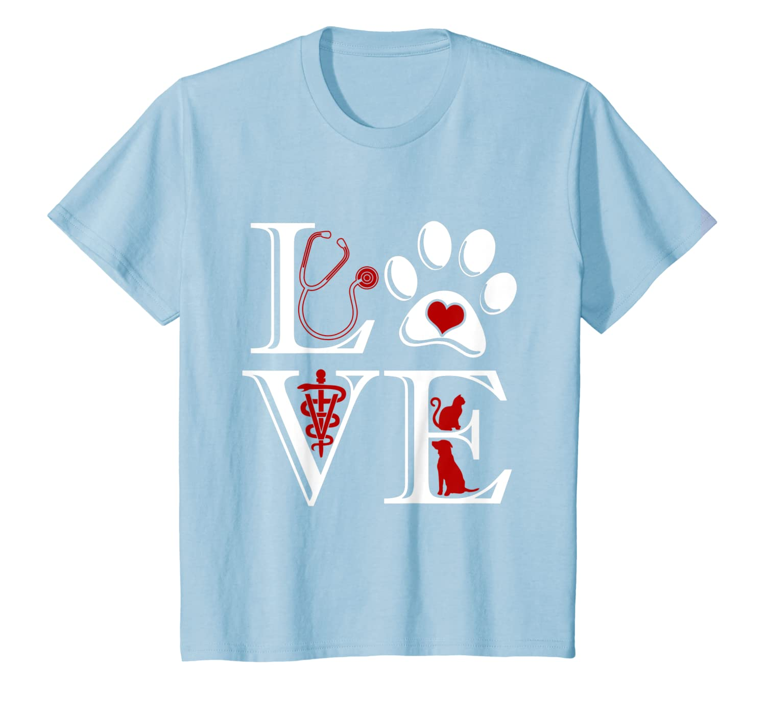 Veterinary Medicine Is LOVE Funny Cute Graphic T Shirt