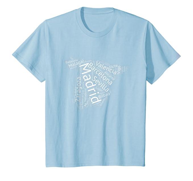 Amazon.com: España T Camisa las principales ciudades Graphic ...