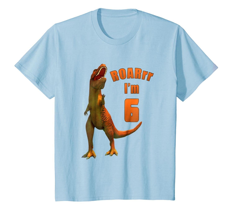 Kids Dino 6th Birthday T-Rex T-Shirt