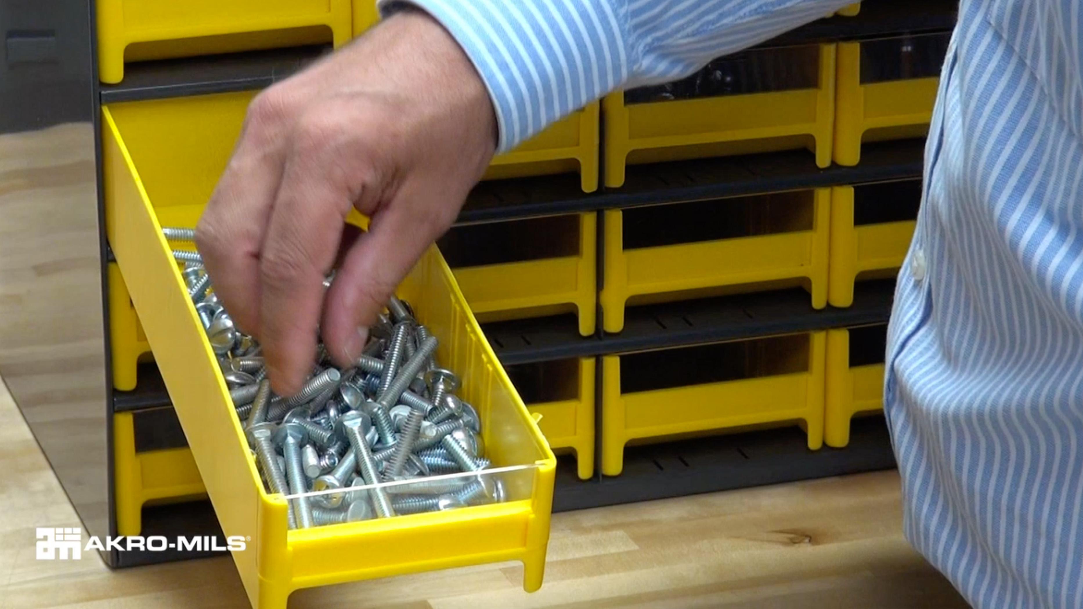 Homak HA01039001 39-Drawer Parts Organizer Black