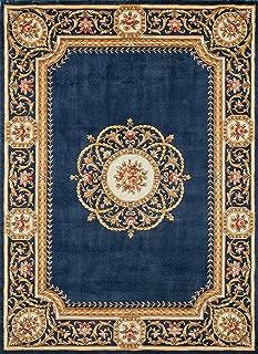 Momeni HARMOHA-12BLU500R Harmony Collection Area Rug, 5' x 5' Round, Blue