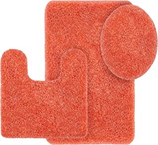 Better Homes and Gardens Thick and Plush 3-Piece Bath Rug Set, Gulf Coral