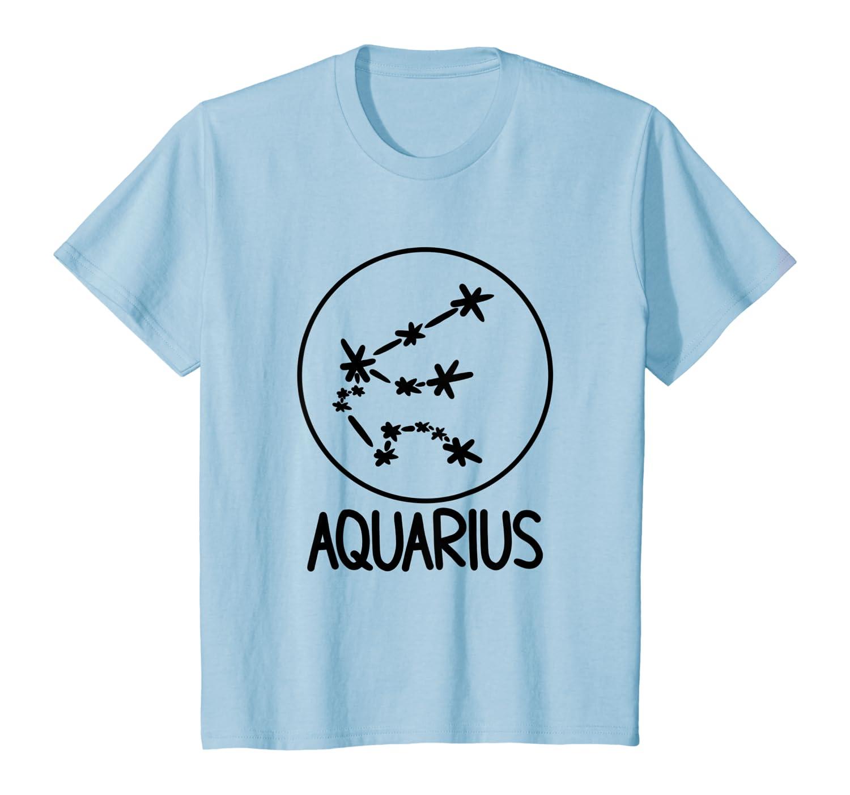 Aquarius Zodiac Astrological Sign Star Constellation T-Shirt Youth