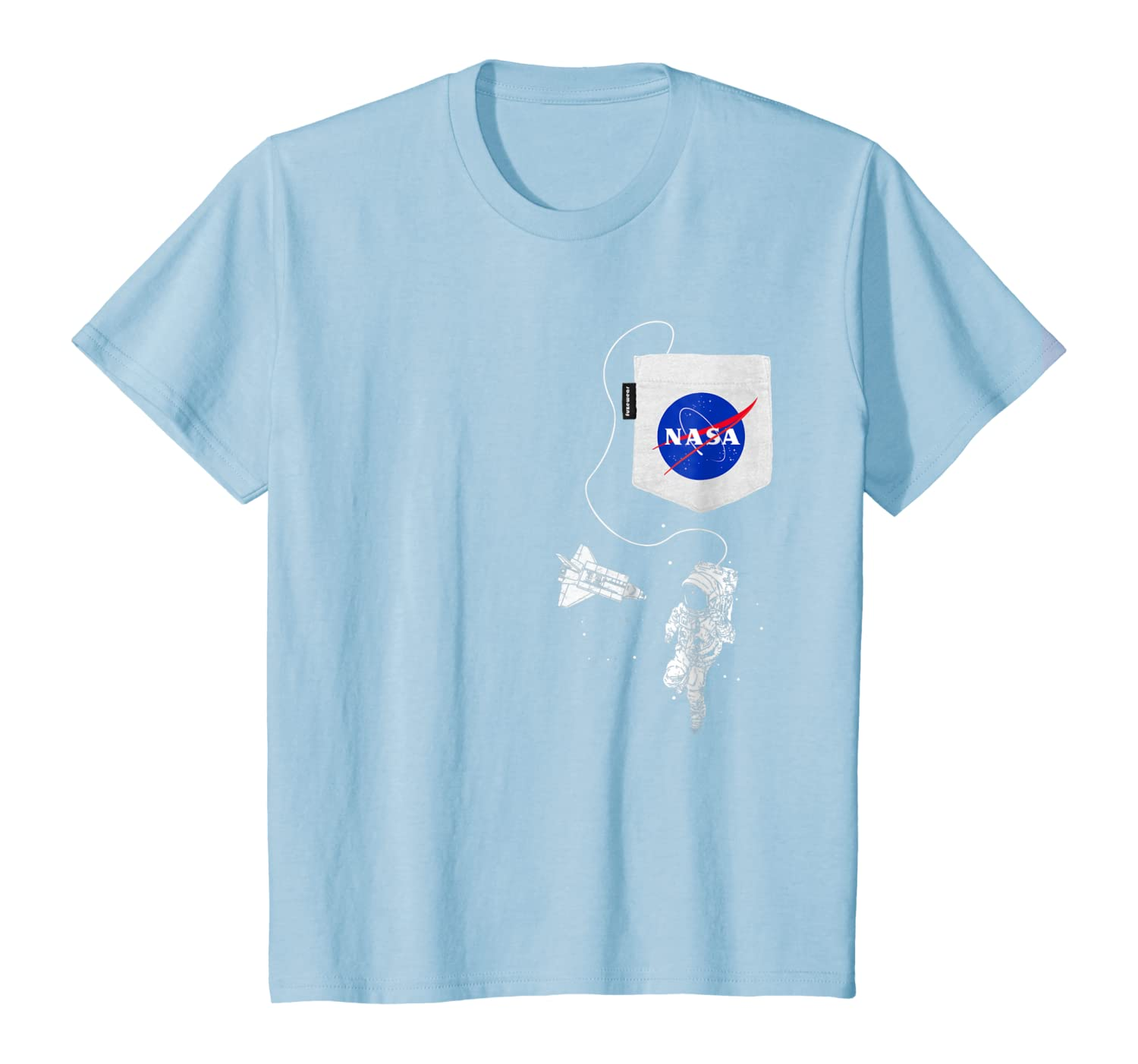 NASA Pocket Astronaut Space Shuttle in Space T-Shirt Youth