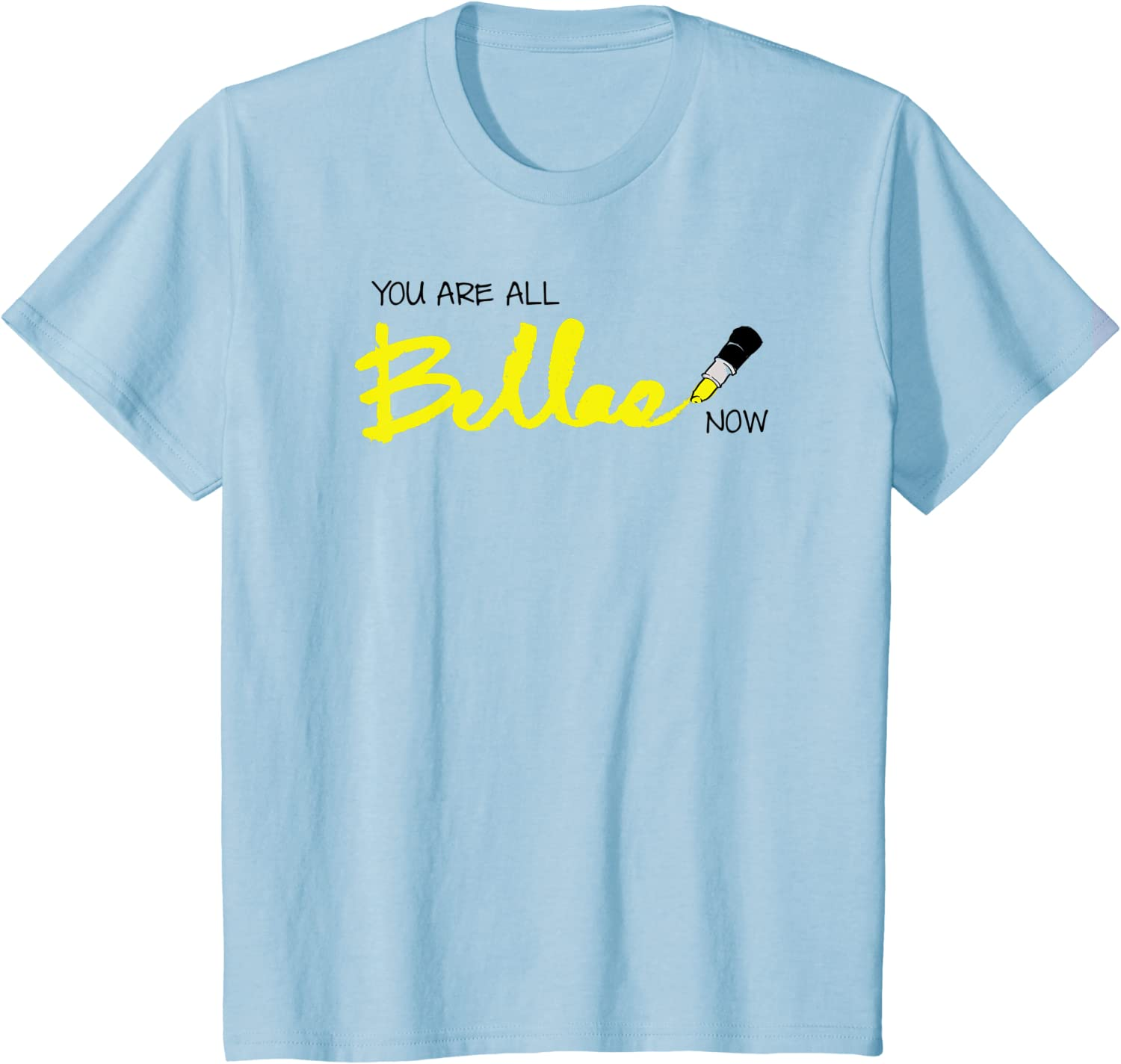 Kids Pitch Perfect - You Are All Bellas Now Yellow T-shirt