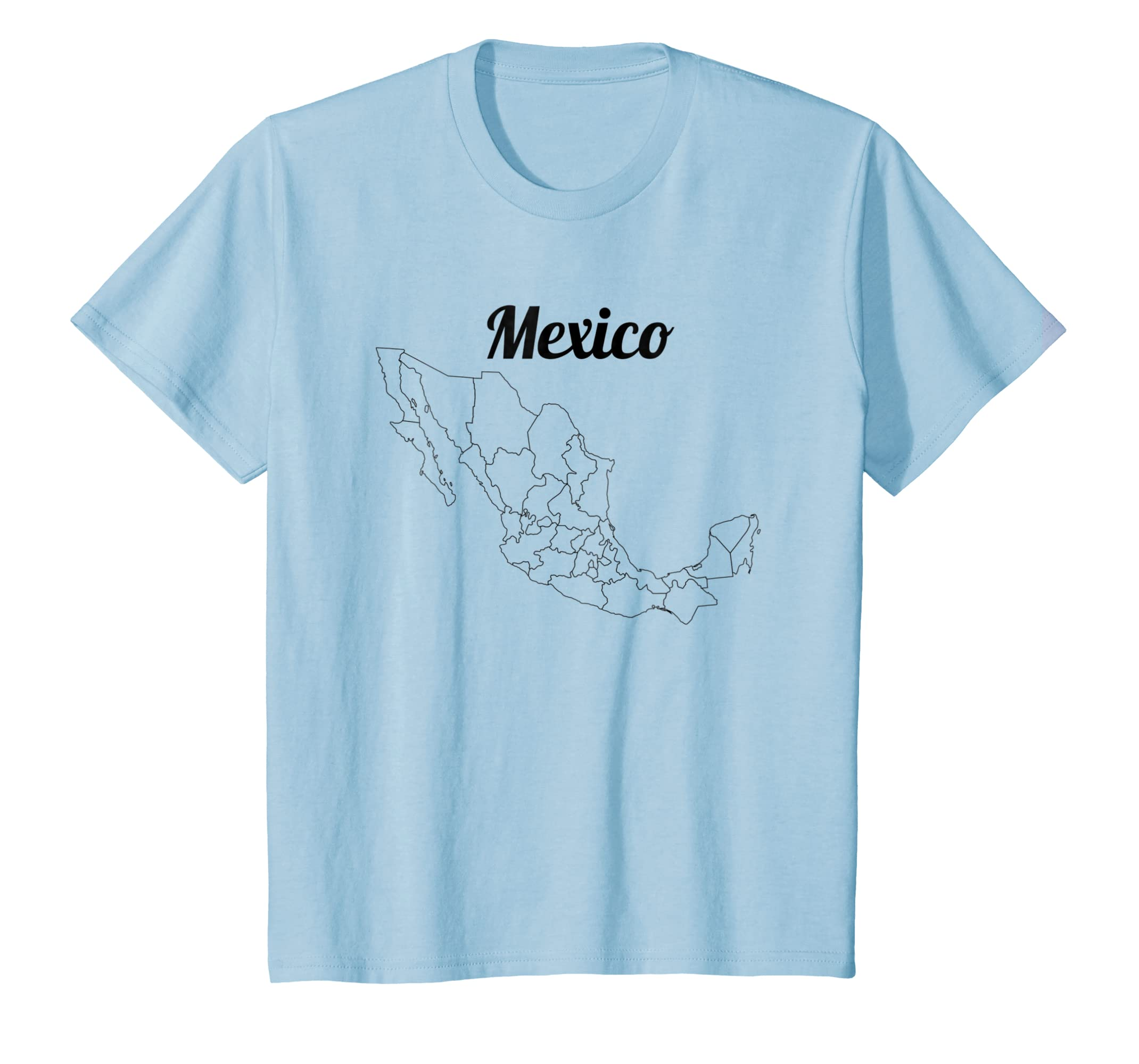 Amazon Com Map Of Mexico T Shirt Mexican Southern Neighbor Clothing