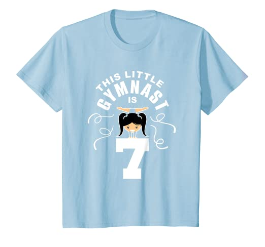 Kids 7th Birthday Girls Gymnast T-Shirt Gymnastics 7 Year Old