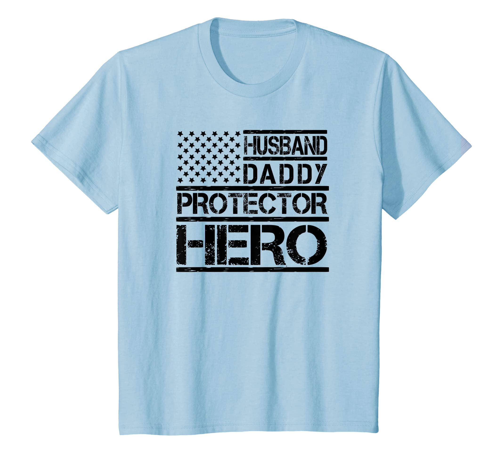 ebb579a2dd1 Amazon.com  Husband Daddy Protector Hero Shirt Fathers Day Birthday Gift   Clothing