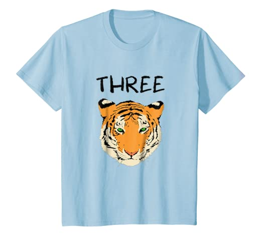 Image Unavailable Not Available For Color Kids 3 Year Old Tiger Birthday Party 3rd T Shirt