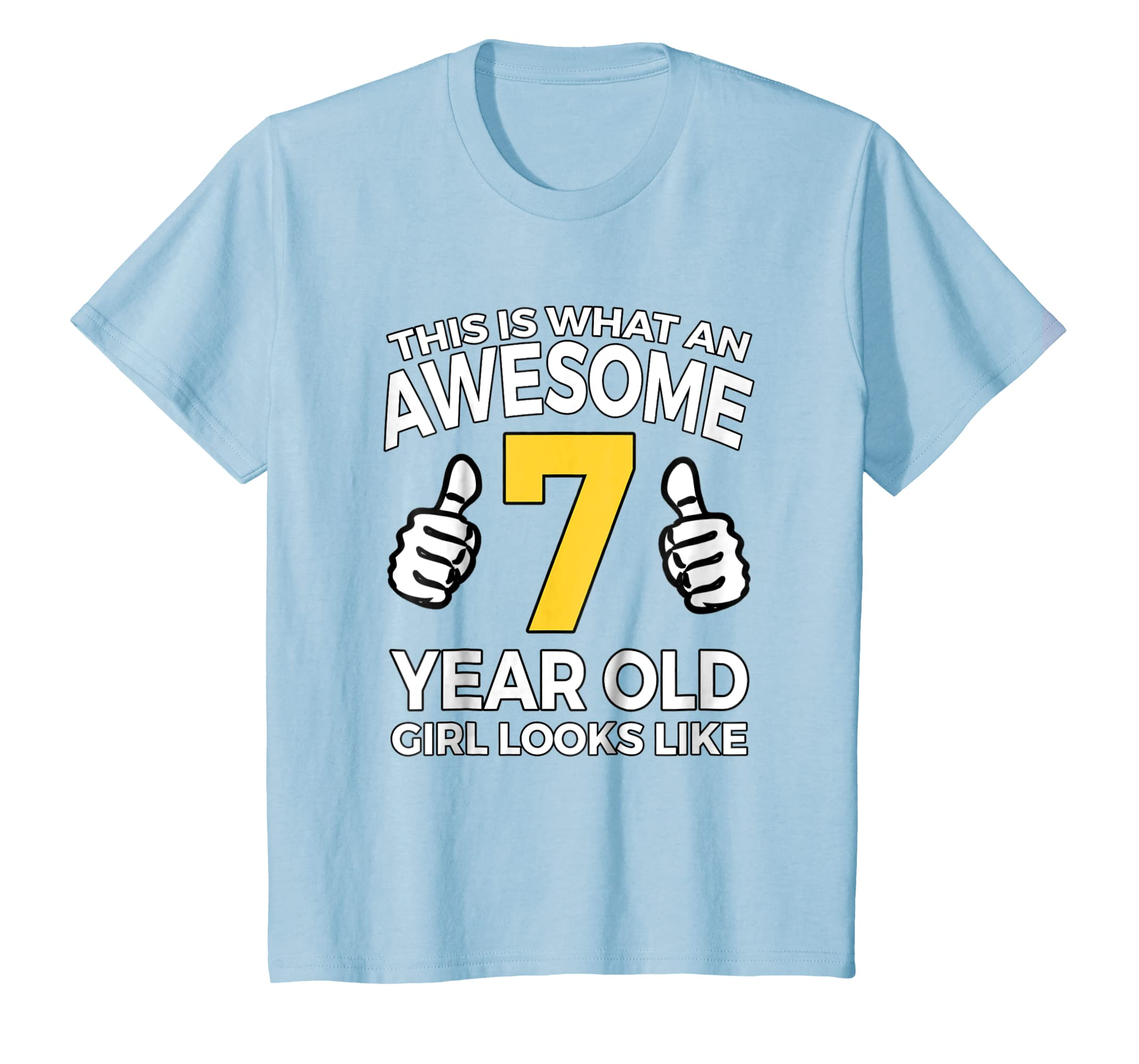 Amazon Kids 7th Birthday Gift T Shirt For Awesome 7 Year Old Girls Clothing