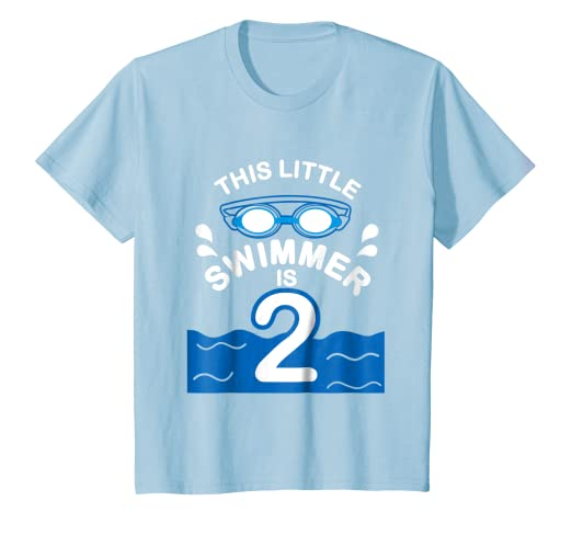 Image Unavailable Not Available For Color Kids 2nd Birthday Boys Swimmer T Shirt