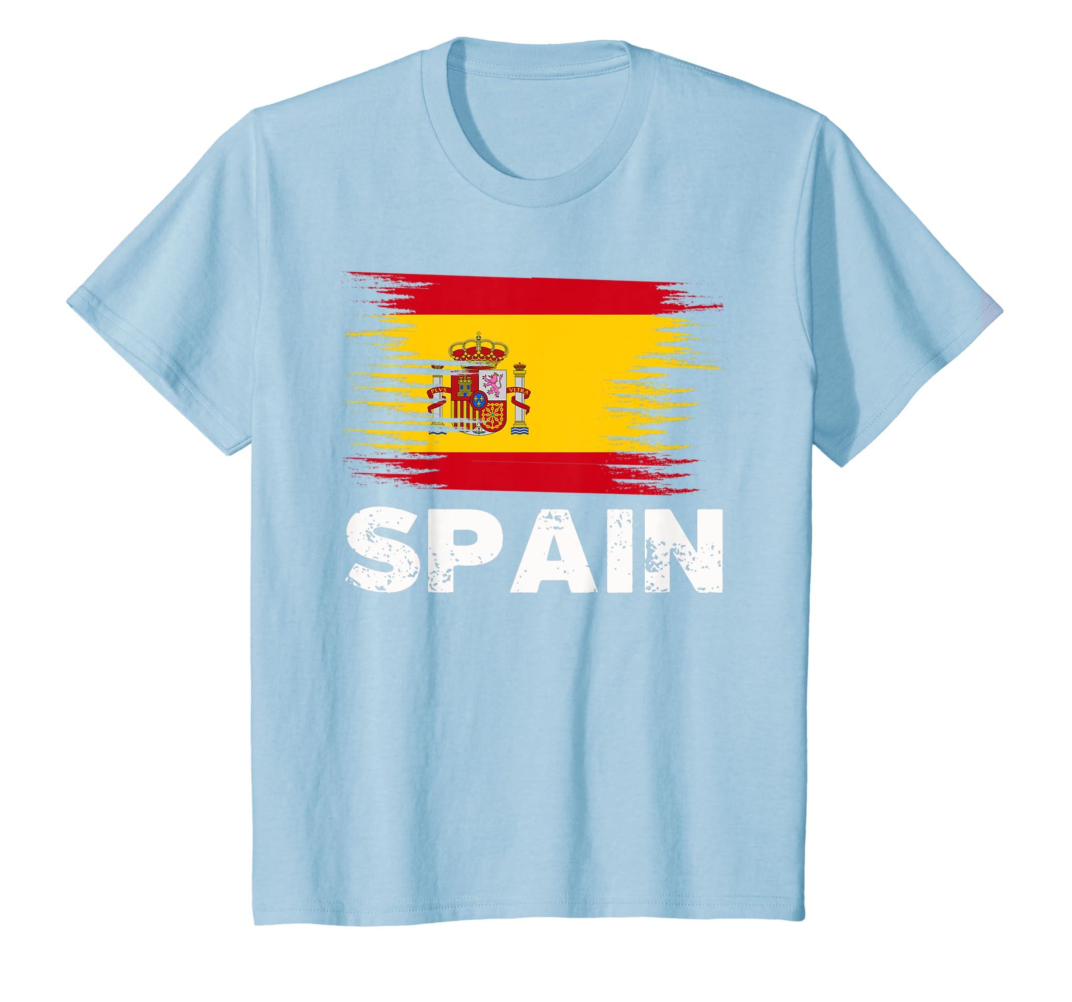 Amazon.com: Spain - Spanish Flag Shirt | Sports Soccer Football Gift:  Clothing