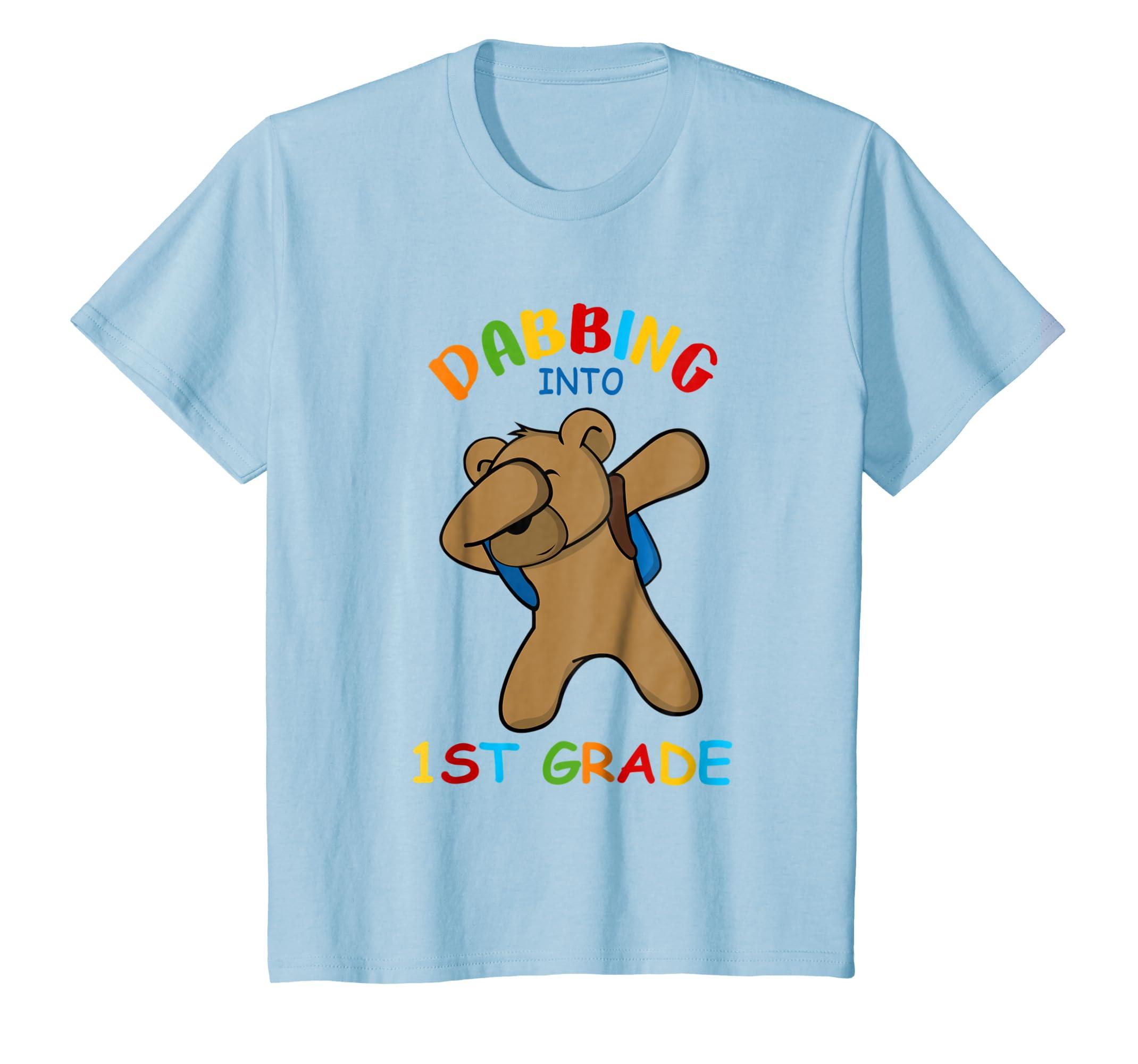 Bear Dabbing Into 1st Grade Shirt For Kids-Awarplus