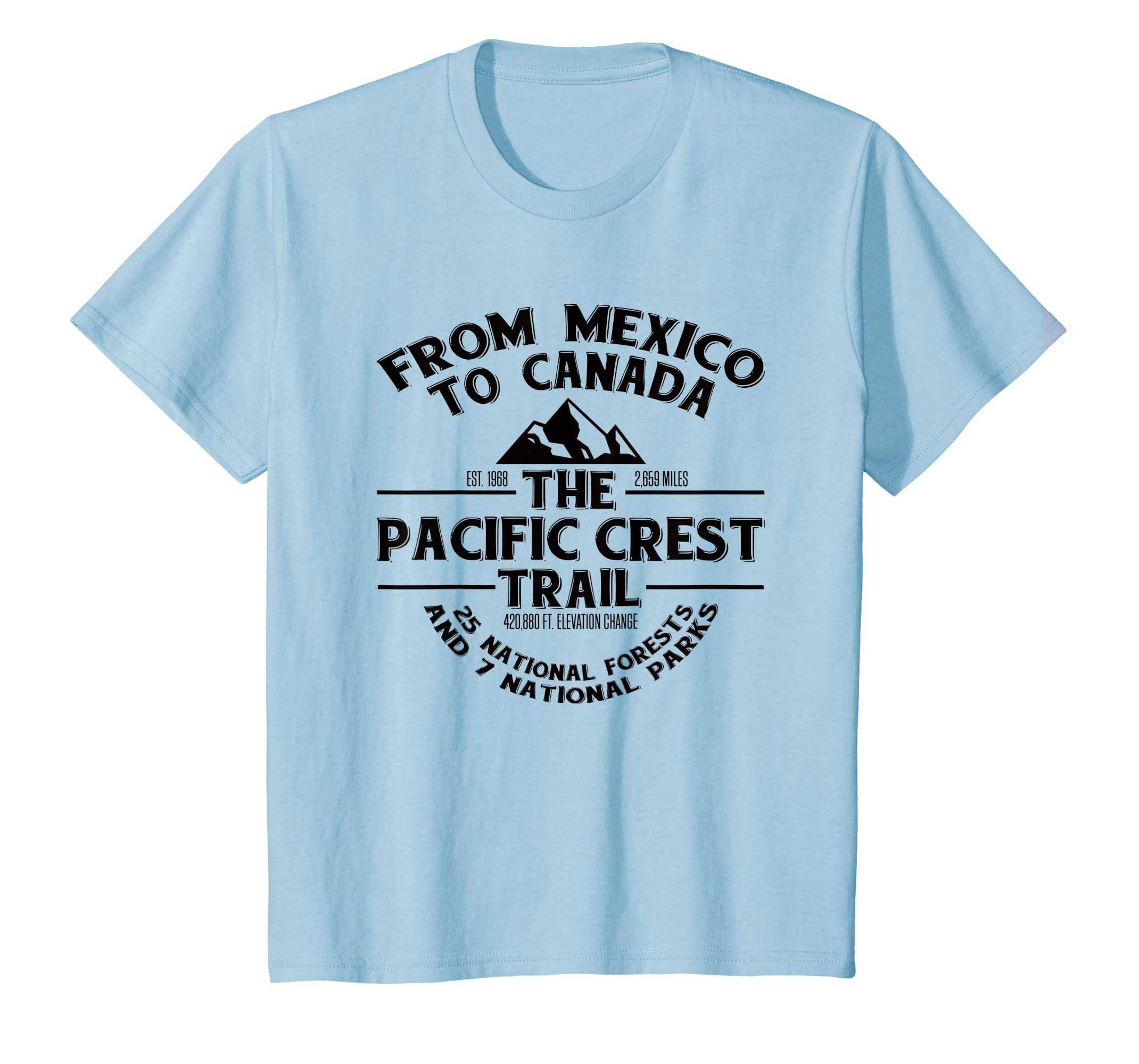 Amazon Com Pacific Crest Trail T Shirt Pct Novelty Gift Clothing