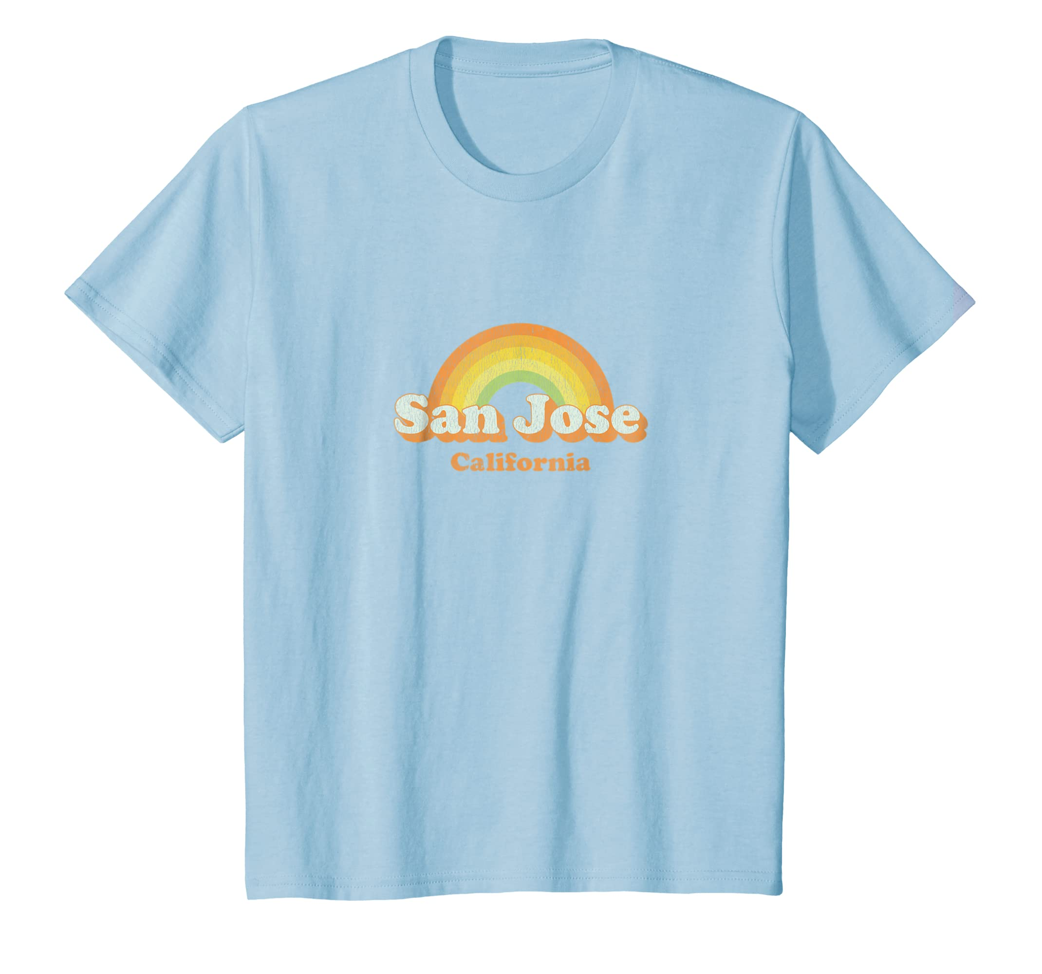 Amazon Retro San Jose California Ca T Shirt Vintage 70s Rainbow
