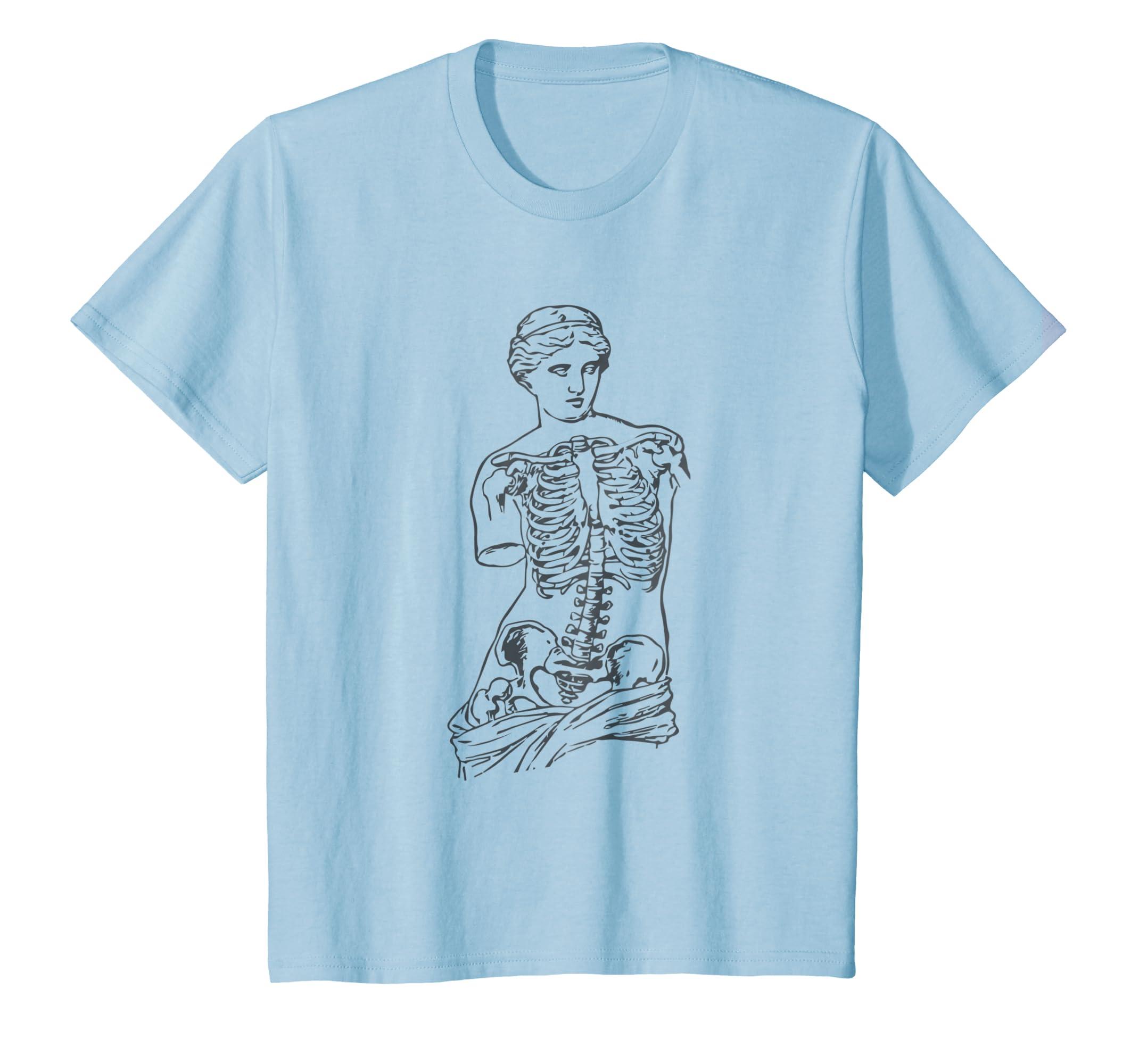 Venus Skeleton T Shirt Vaporwave Aesthetic Soft Grunge Tee Teechatpro