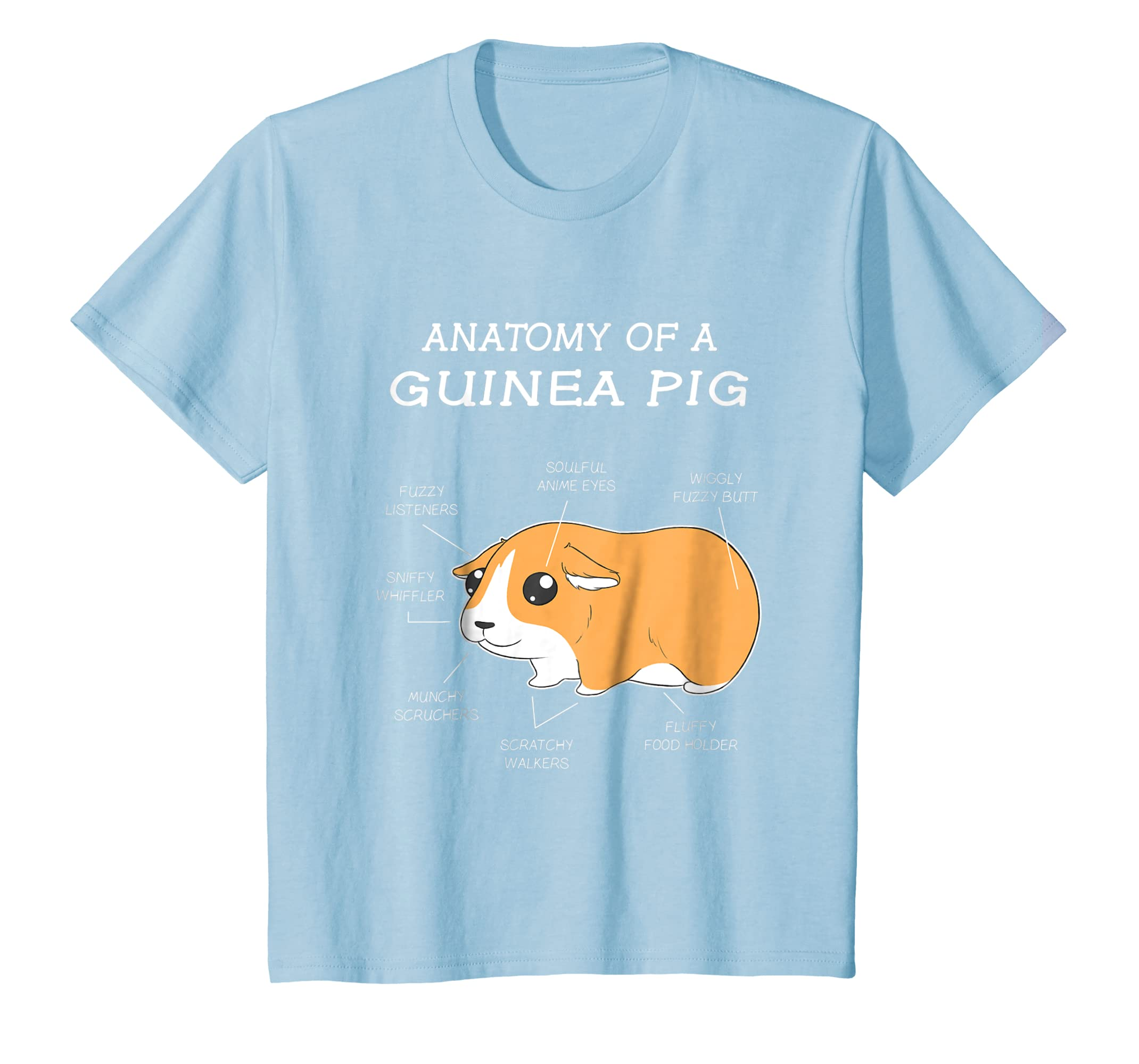 Amazon.com: Anatomy Of A Guinea Pig Funny Chubby Pet T Shirt: Clothing