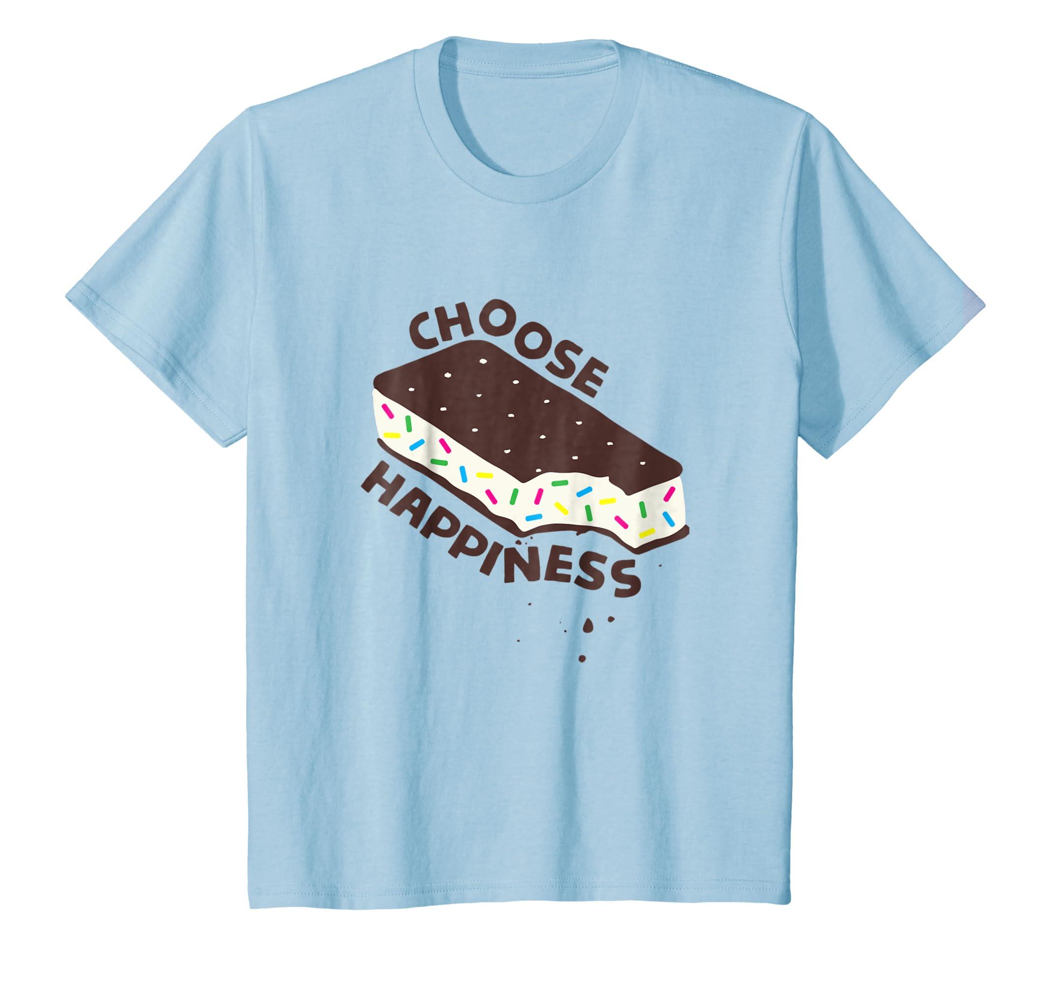 Choose Happiness Inspirational Ice Cream Sandwich Shirt-Newstyleth