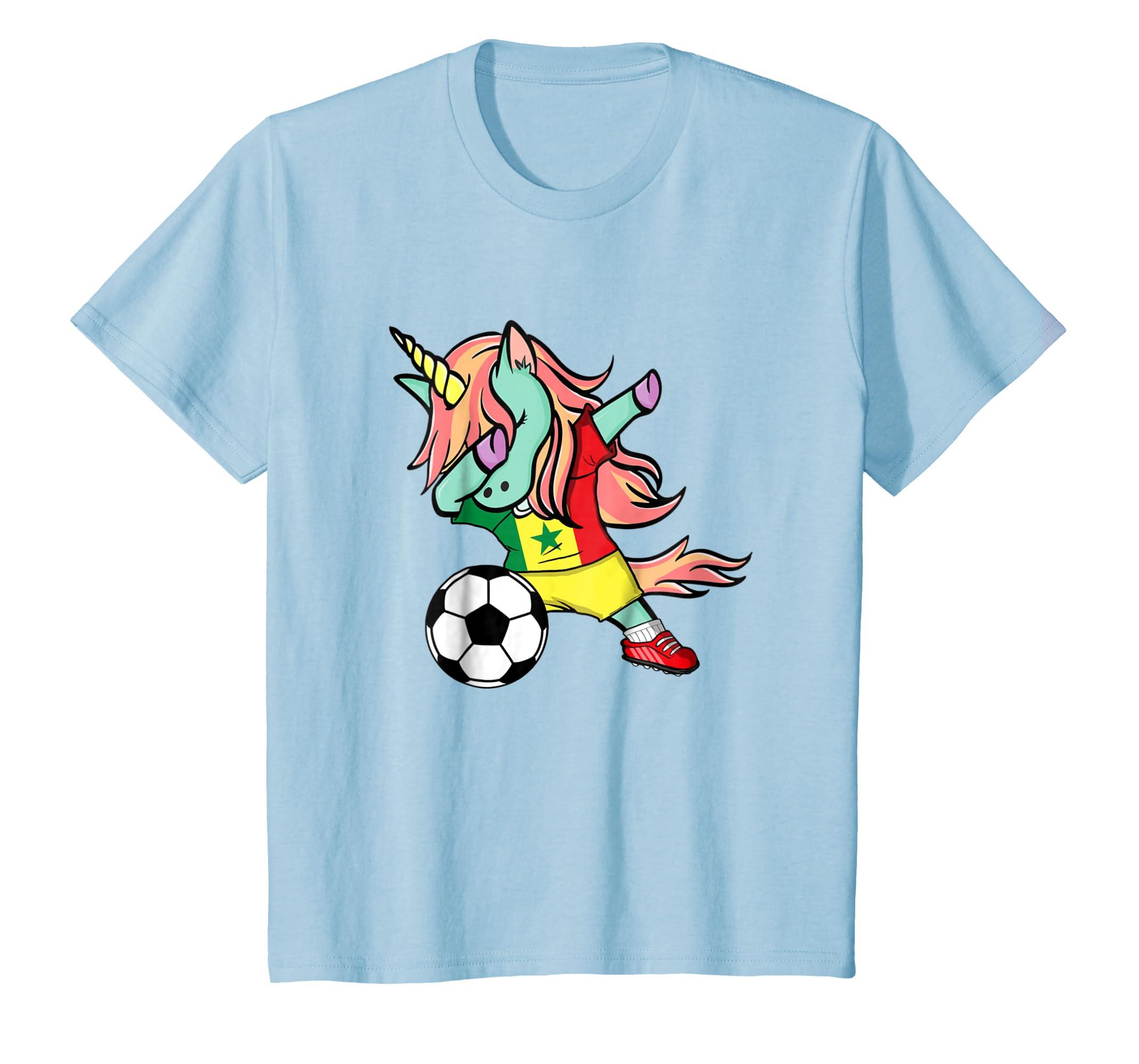d71ba6e80 Amazon.com  Dabbing Unicorn Soccer Senegal Jersey Shirt 2018 Football   Clothing