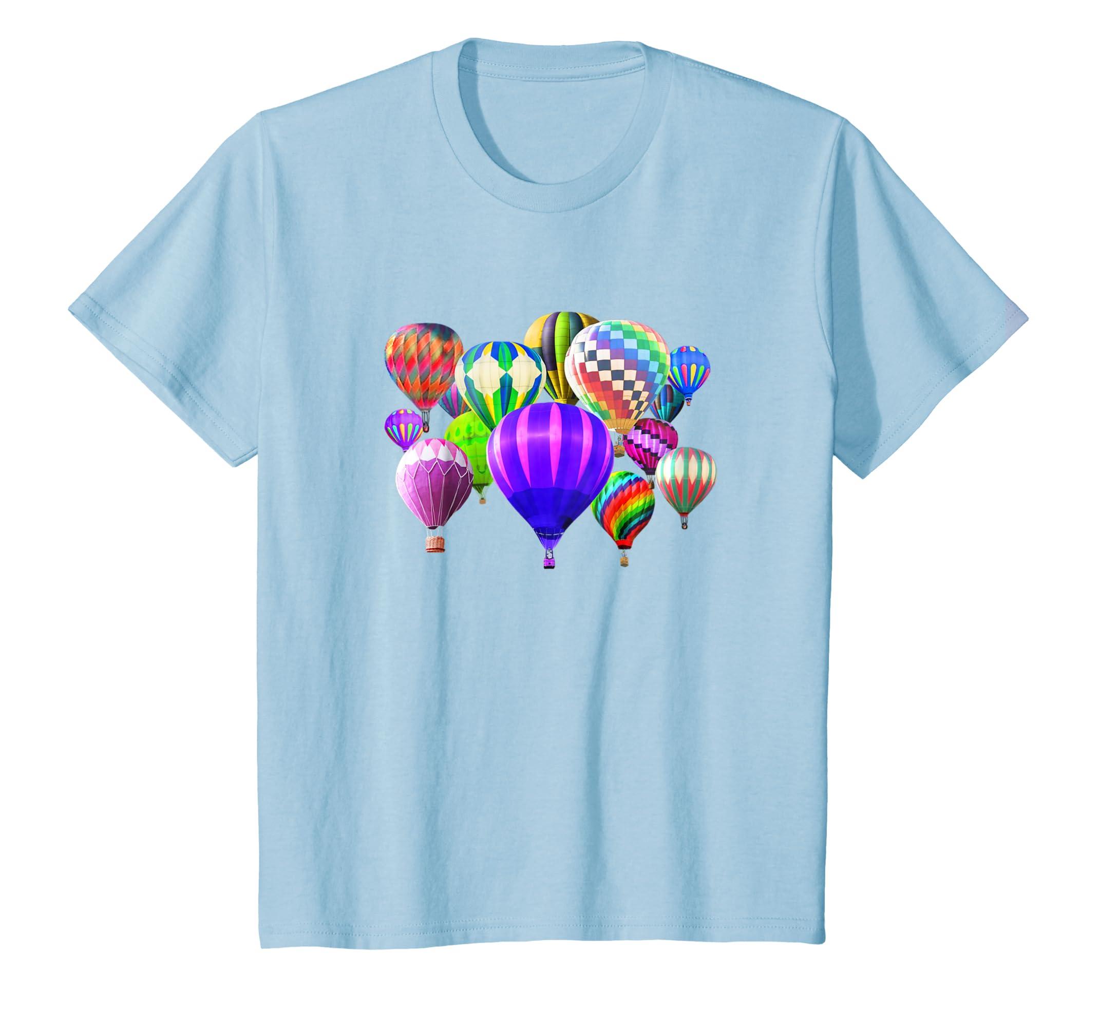 5b0a66dc9dc3e Amazon.com: Hot Air Balloon T-Shirt Group Riding Festival: Clothing
