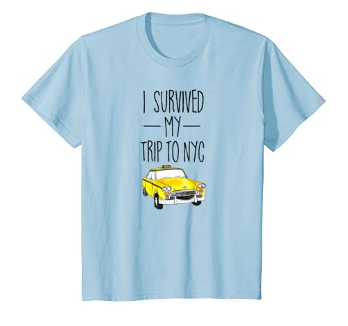 Amazon.com  I Survived My Trip To NYC T Shirt New York City Taxi Cab Tee   Clothing 3440282497e