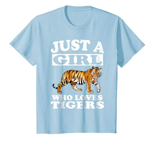 6dc623d56 Amazon.com: Just A Girl Who Loves Tigers Tiger T-Shirt Animal Gift: Clothing
