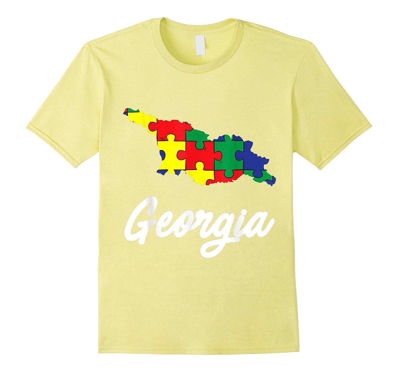 Autism Awareness Day Georgia Puzzle Pieces Gift Shirts