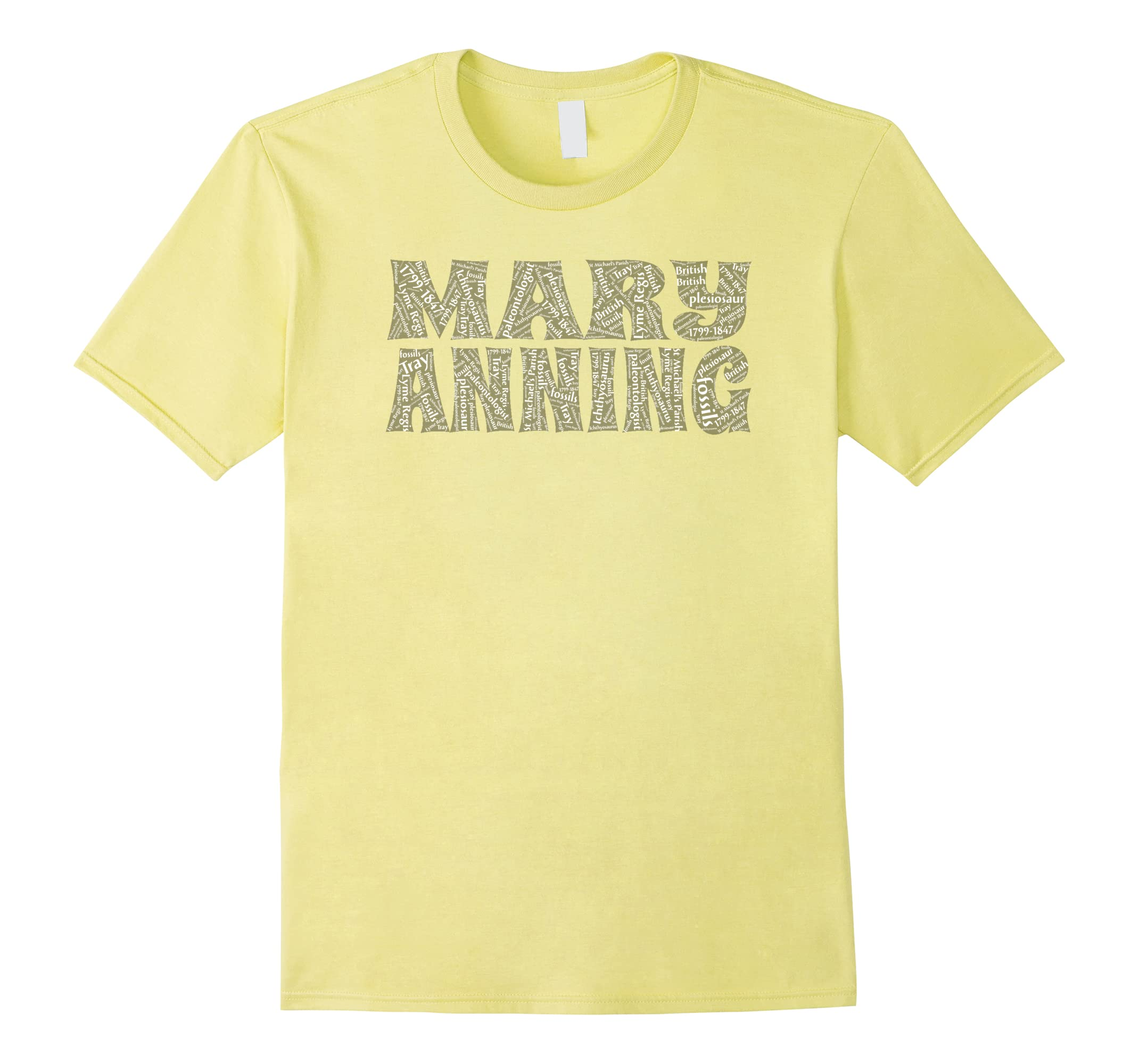 MARY ANNING Paleontologist Art Words Tee women scientists-RT