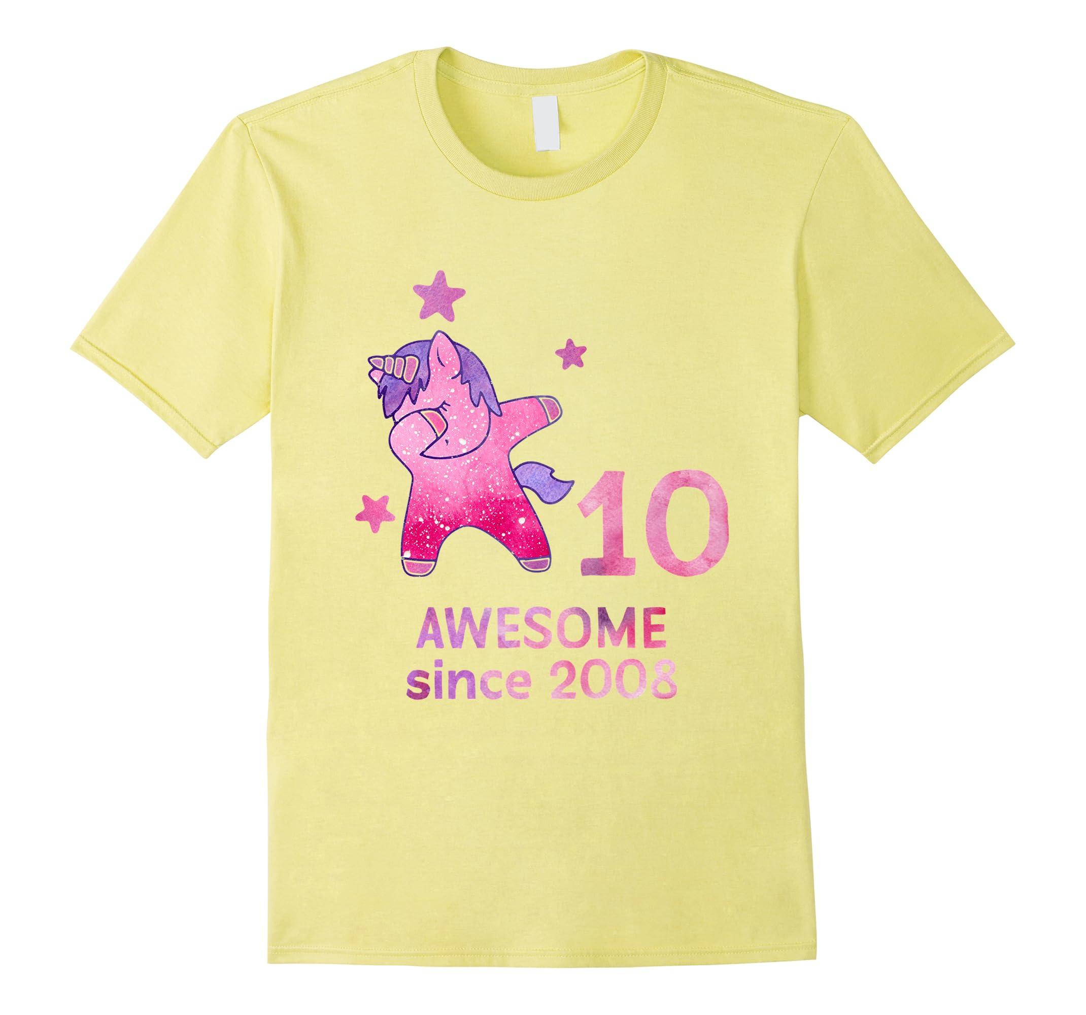 10th Birthday Shirt Unicorn Gift Girls Age 10 Women Tshirt-RT