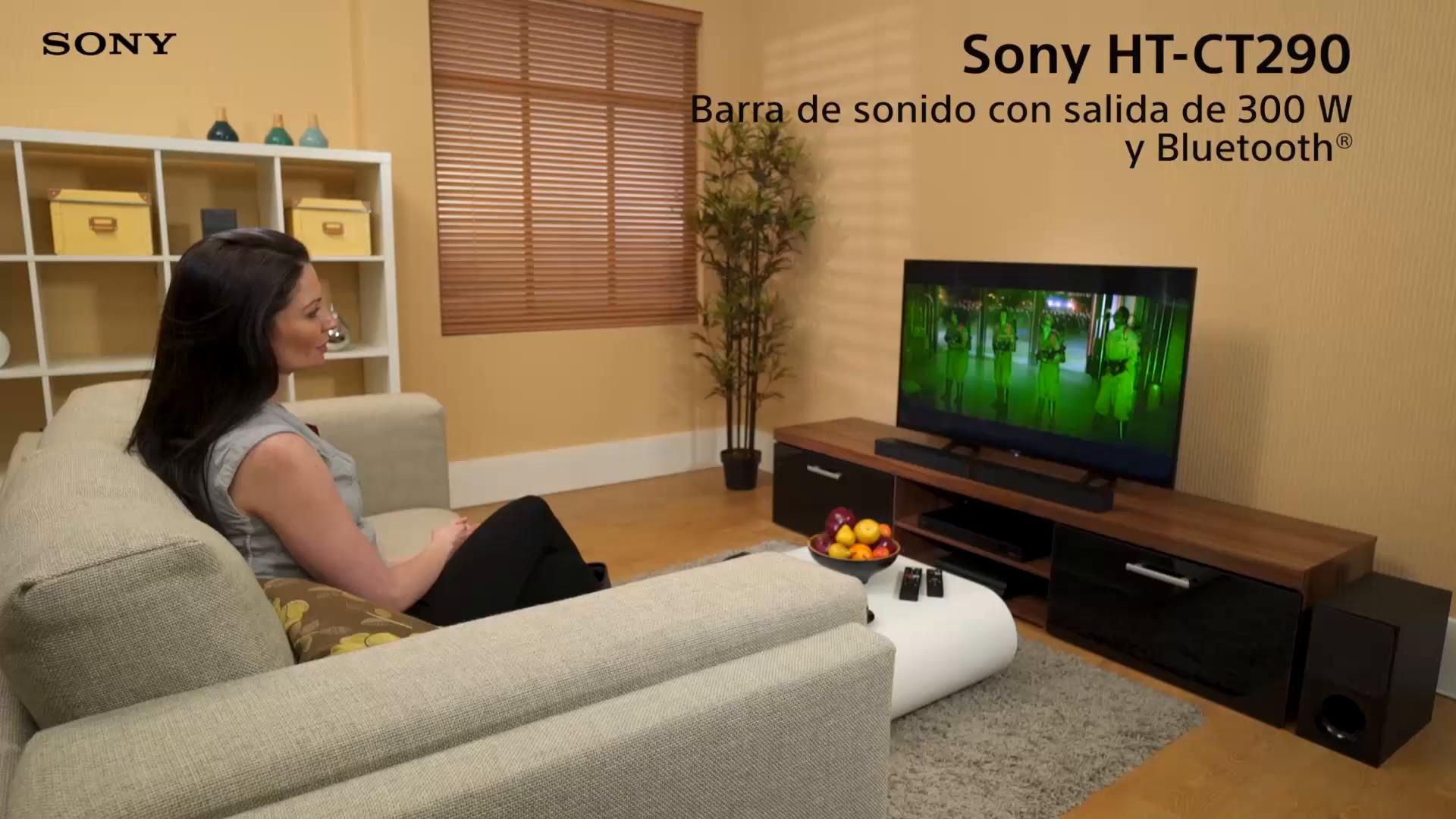 Sony HT-CT290 - Barra de Sonido de 2.1 Canales (con subwoofer inalámbrico bidireccional, S-Force Pro Front Surround, Bluetooth, 300 W) Negro: Sony: Amazon.es: Electrónica