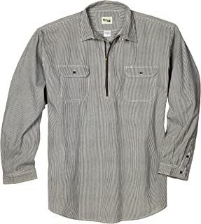 Key Industries Men's Long Sleeve Zip Front Hickory Stripe Logger Shirt Big/Tall