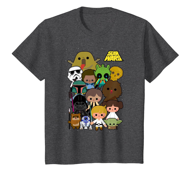 Star Wars Cute Cartoon Character Group Kawaii T-Shirt