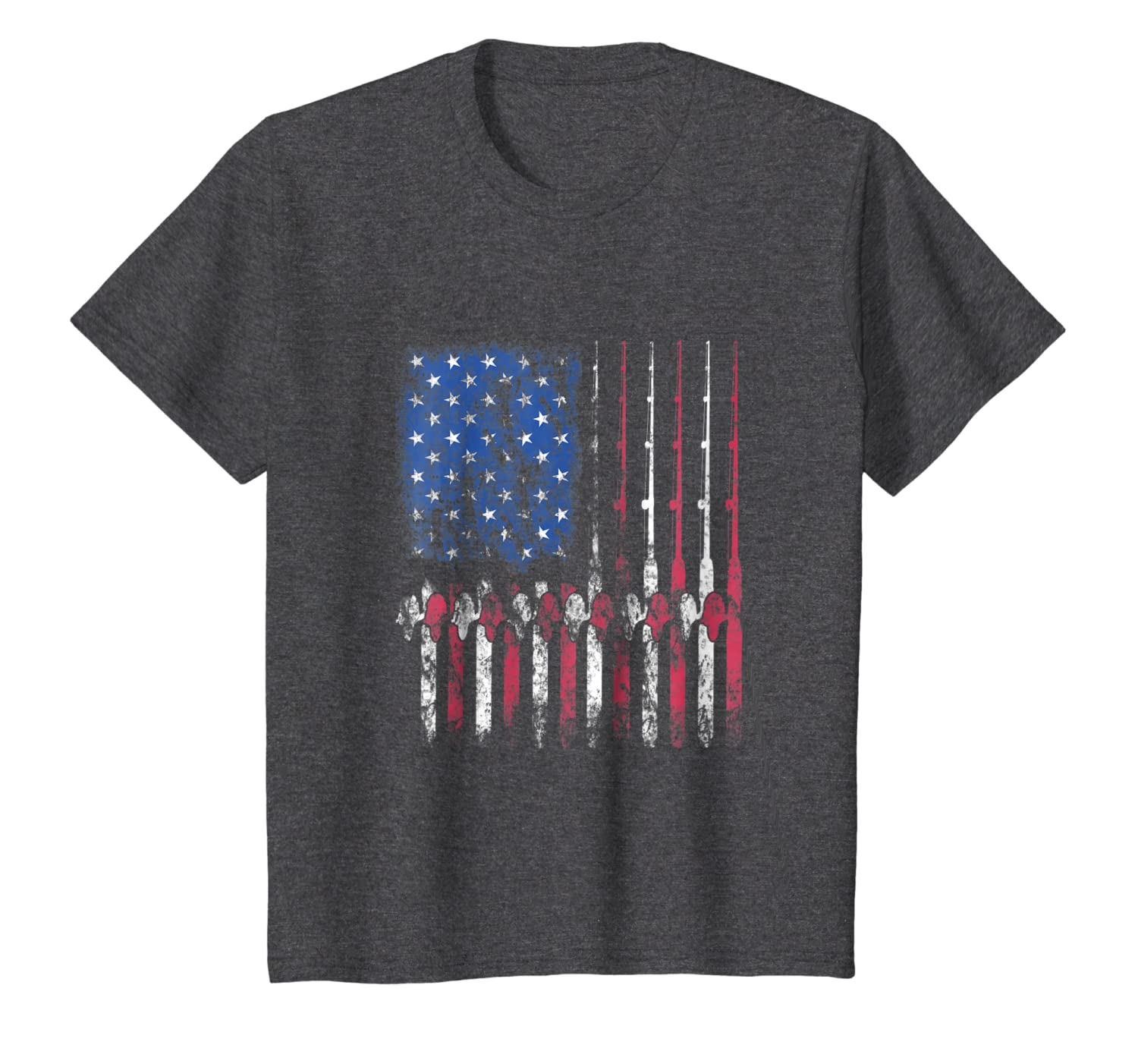 Fishing America T-Shirt American Flag Fisherman Fish Gift SweatShirt