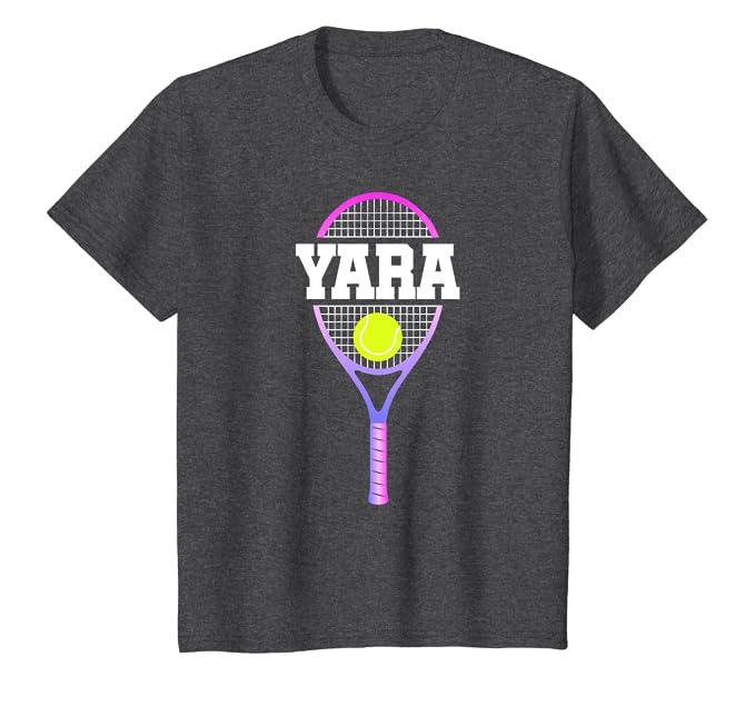 Amazon.com: Kids Tennis Girl Yara Birthday T-Shirt Racket ...