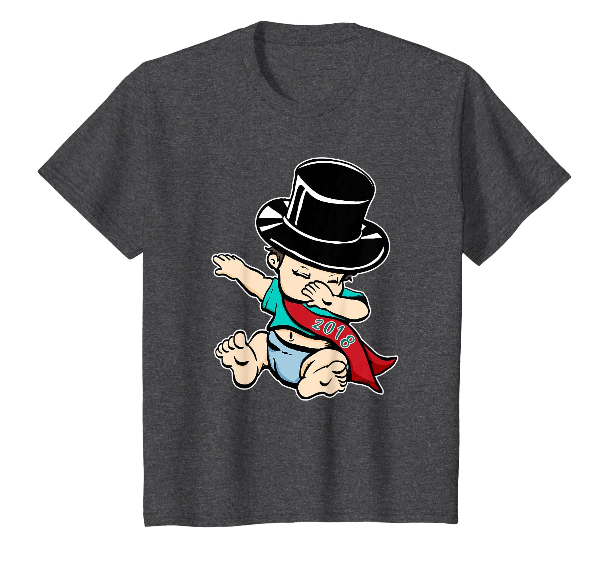49992cc710 Amazon.com: 2018 New Years Eve Shirt NYE Party Funny Dabbing Baby: Clothing