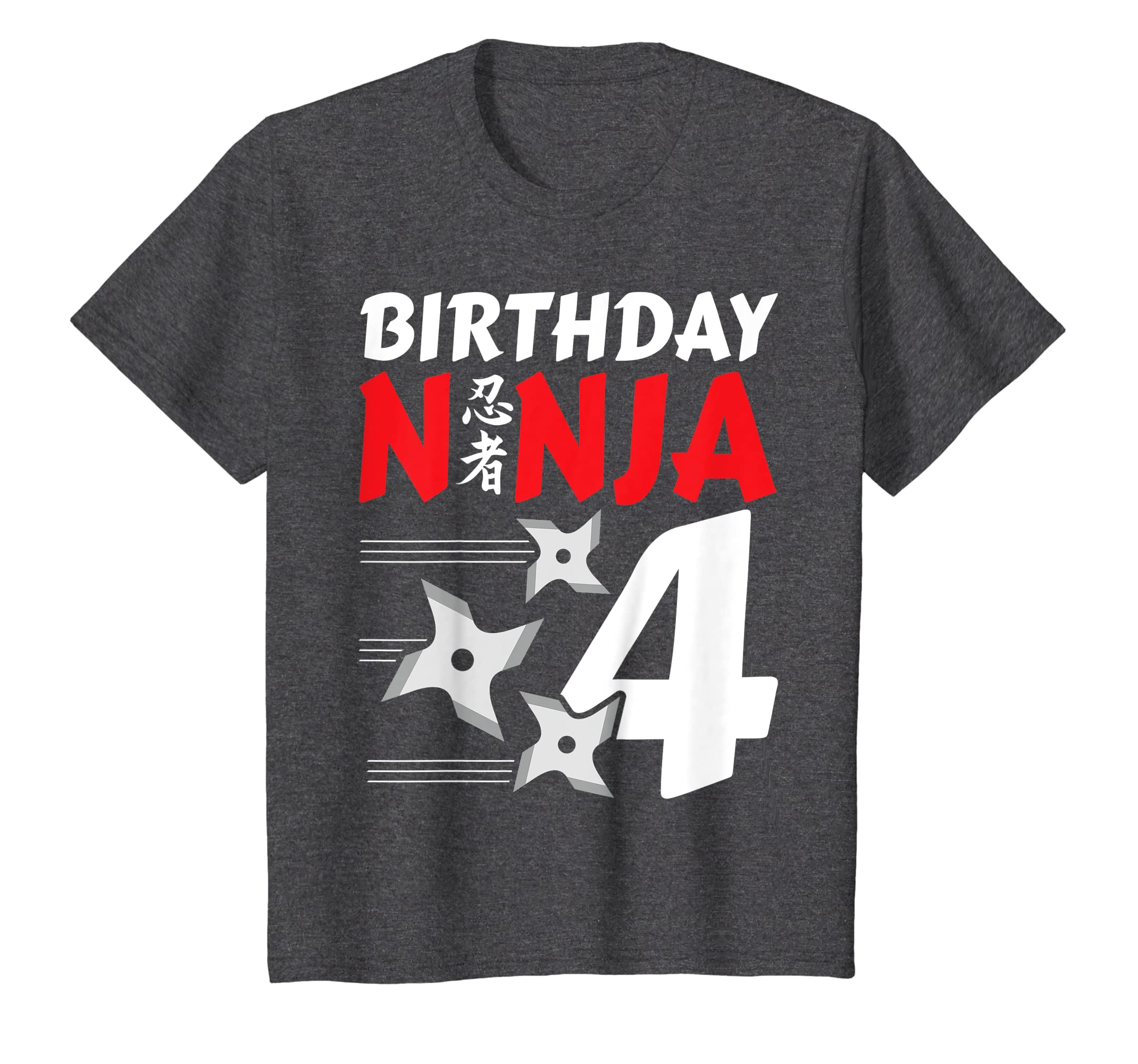 Amazon.com: Kids Birthday Ninja Shirt w/ Throwing Stars ...
