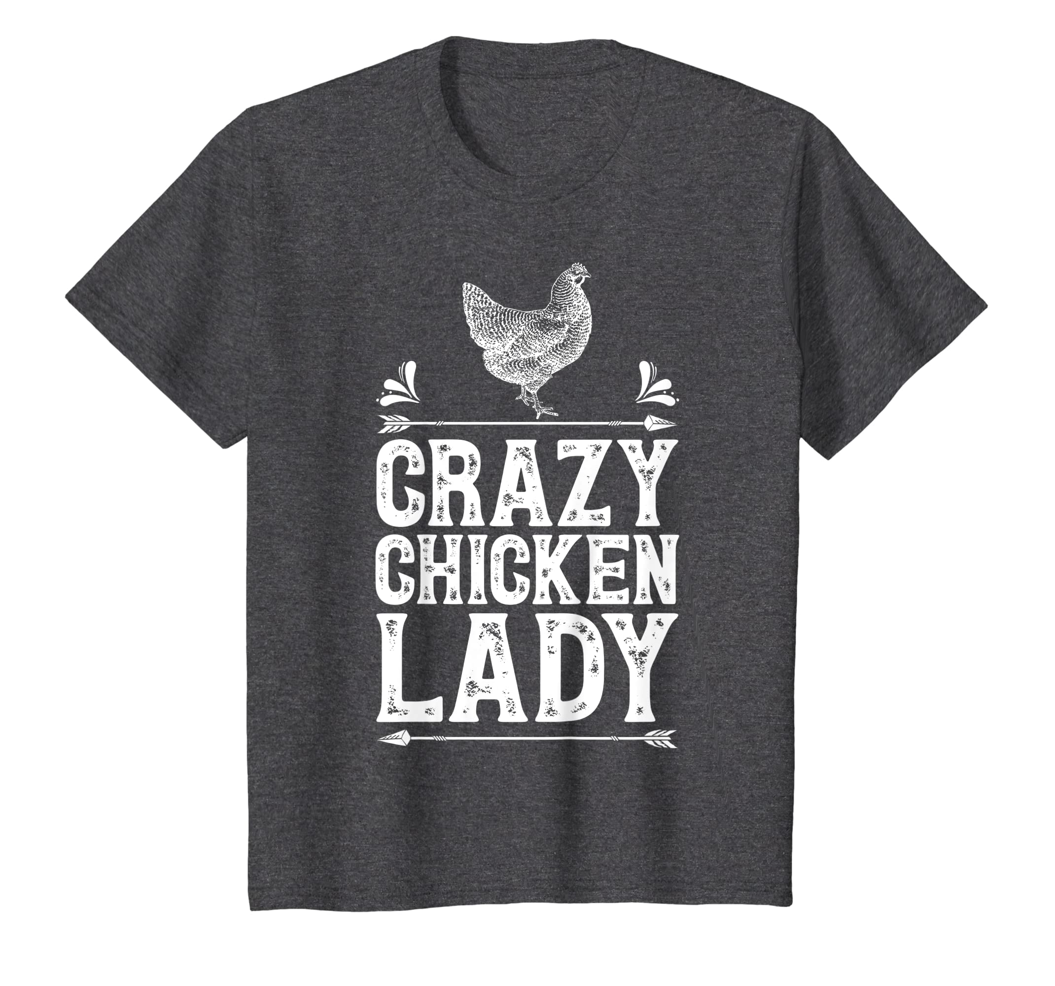 ccf88ab1d Amazon.com: Crazy Chicken Lady T Shirt Funny Farm Poultry Farmer Gifts:  Clothing