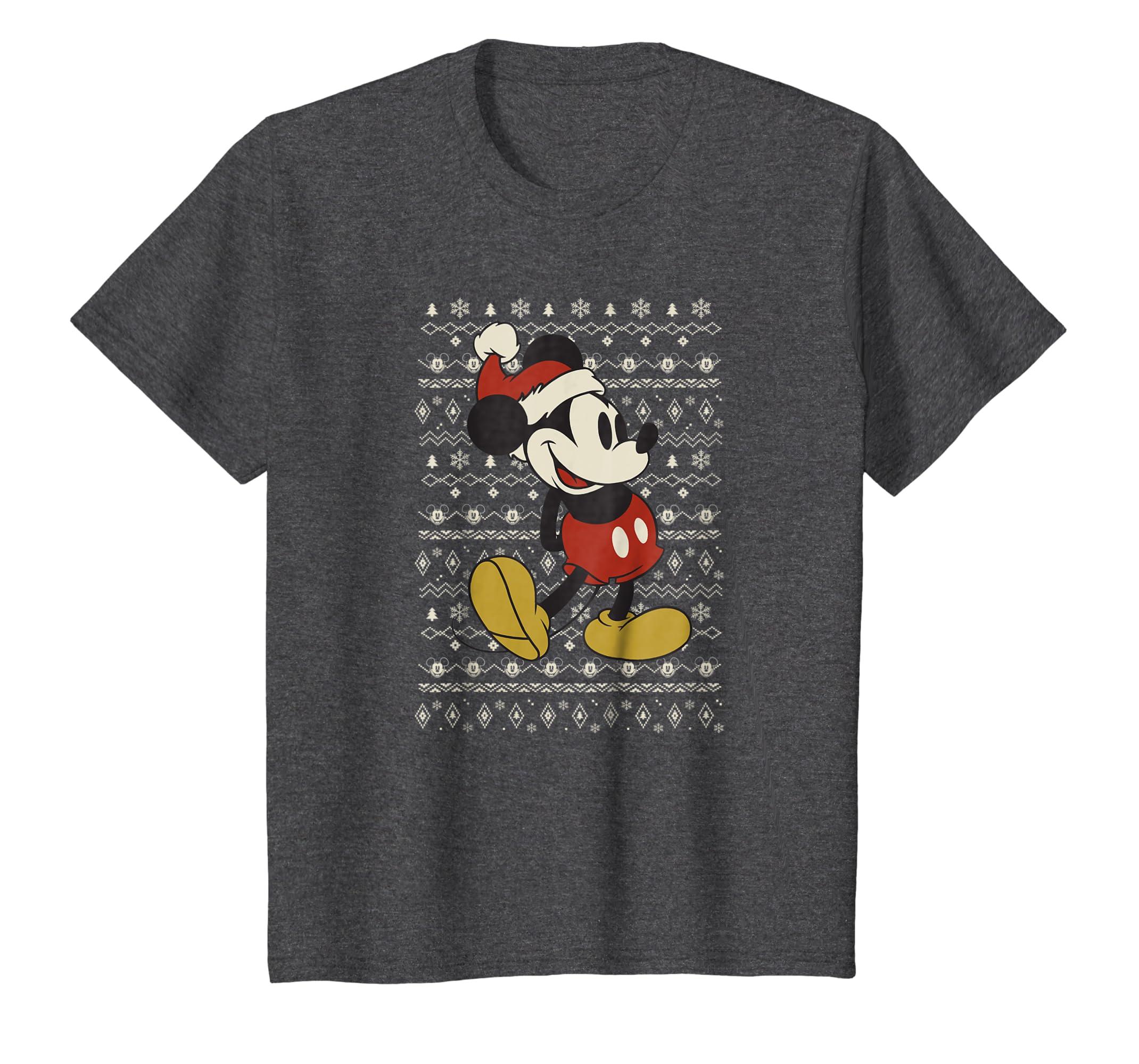 5743bd770 Amazon.com  Disney Vintage Mickey Mouse Christmas T-Shirt  Clothing