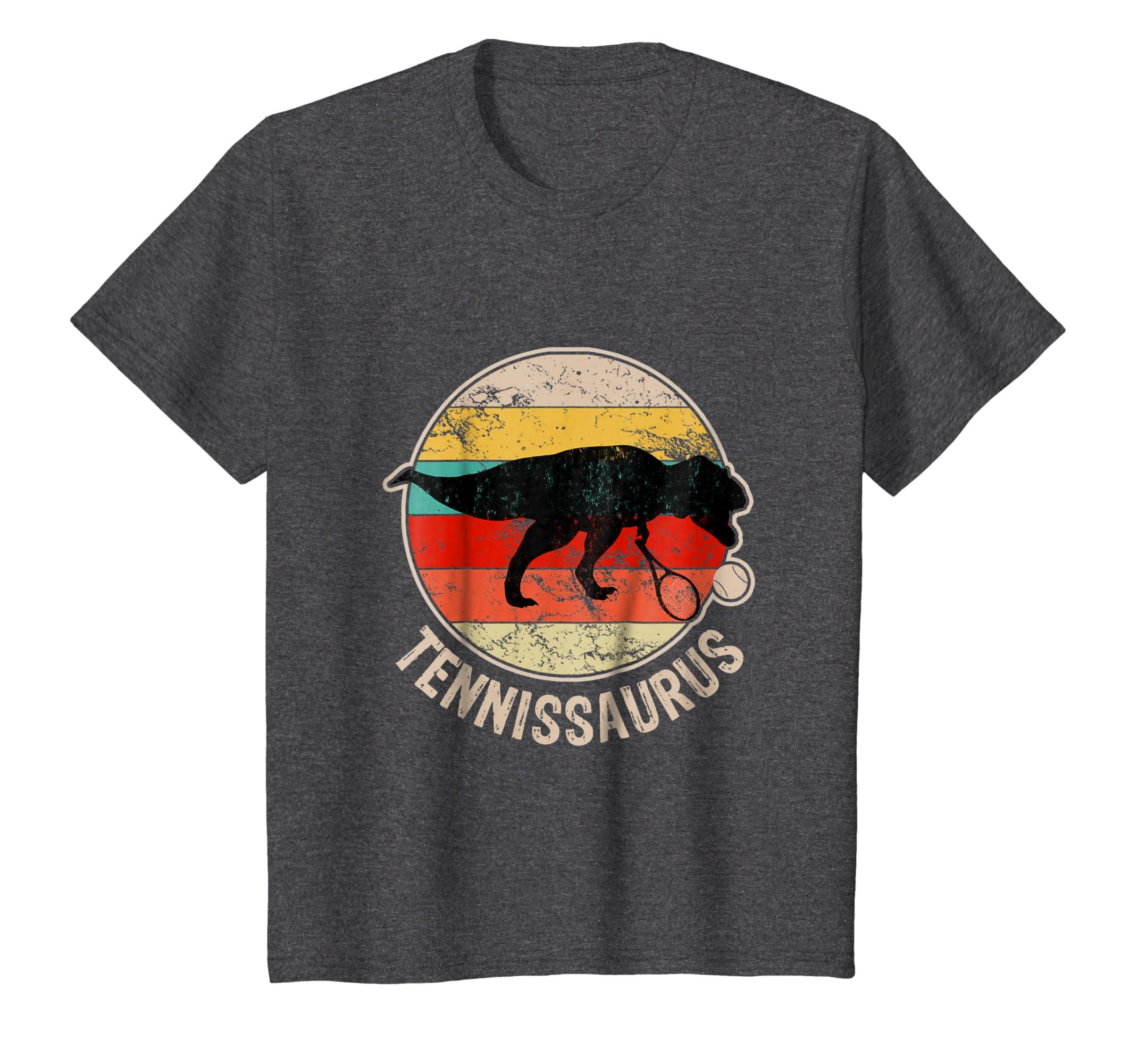 Amazon.com  Tennissaurus Funny Tennis Coach T-Rex Dinosaur T-Shirt  Clothing 32c934064386