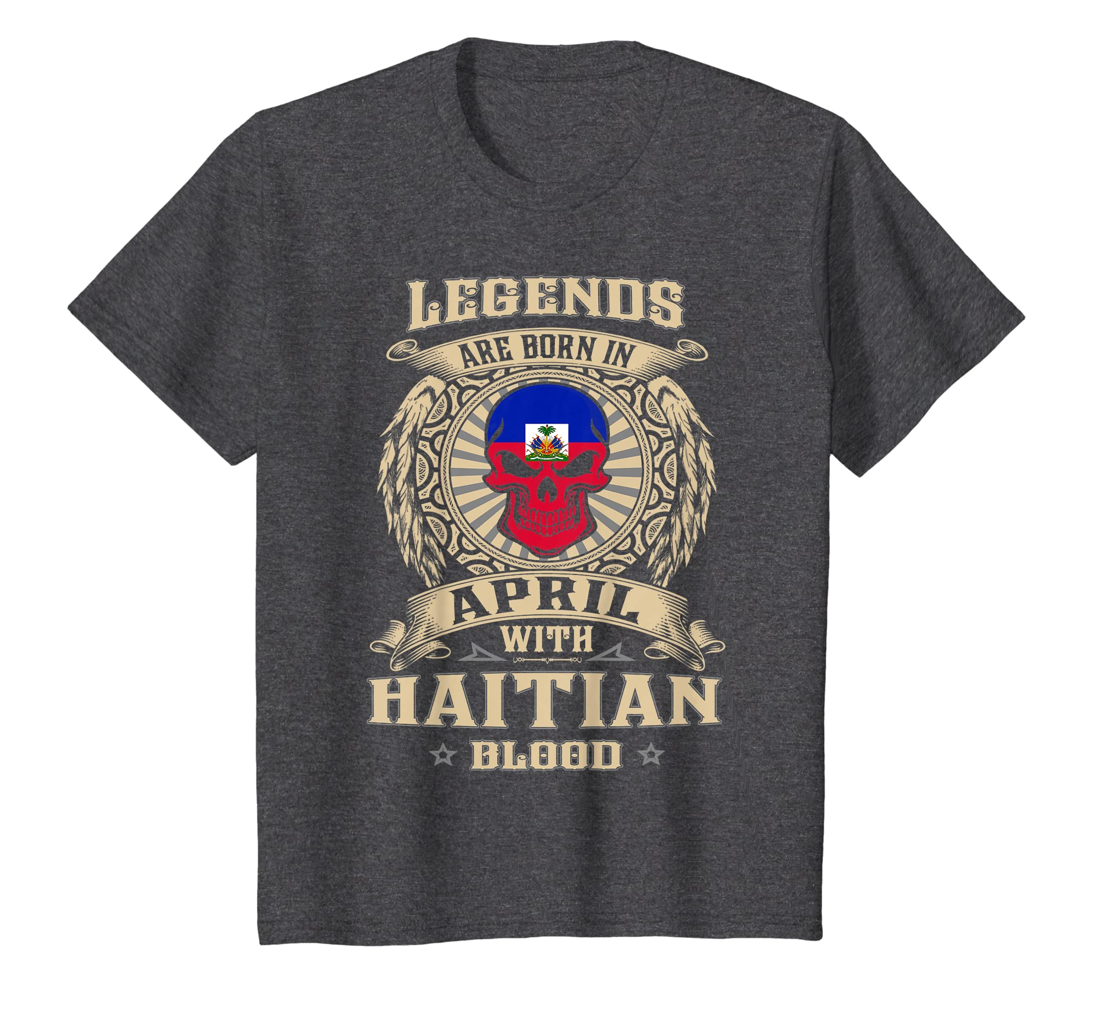 Amazon com: Legends Are Born In April Haitian - Haiti Shirt