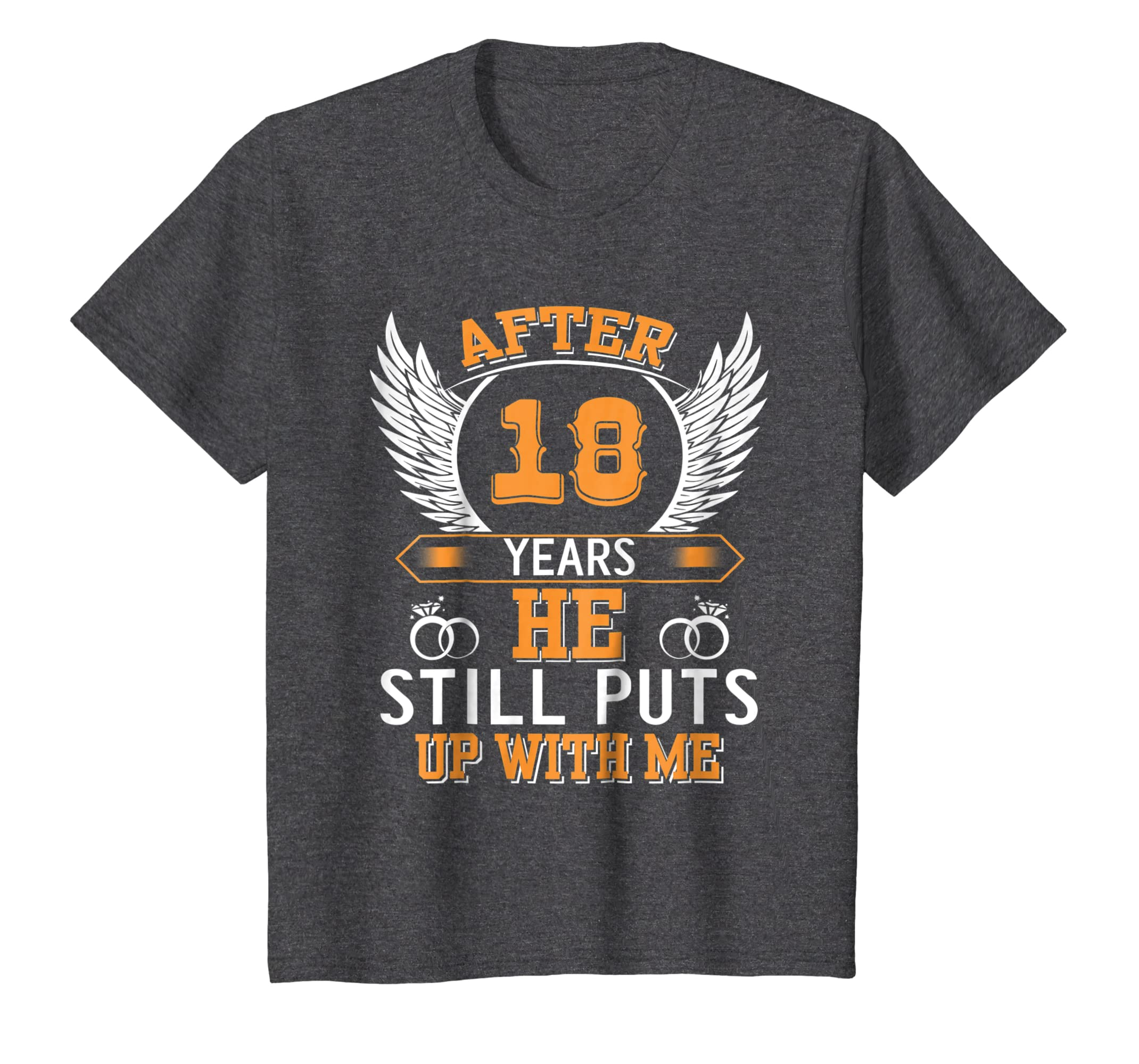 Amazon.com  18th Anniversary Gifts For Her Women. Best T-Shirt For Wife   Clothing 676fd5b5c2