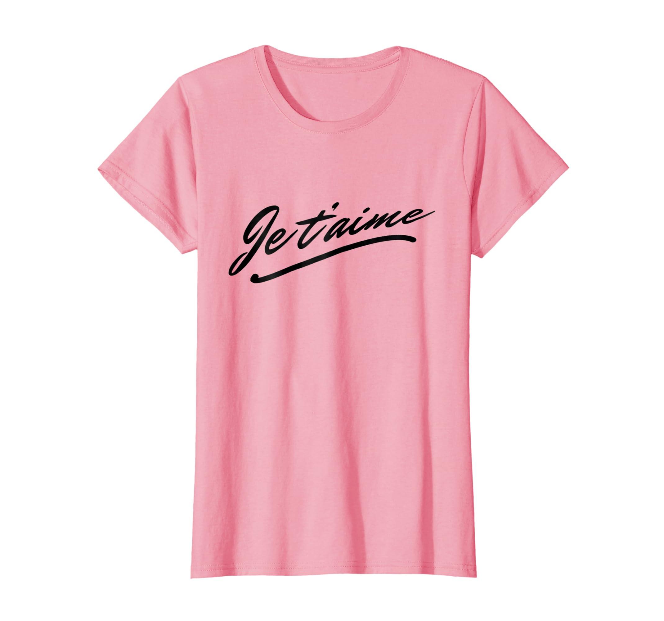 6575dbf2162150 Amazon.com  Je T aime T-Shirt - I Love You Women Men French Language   Clothing